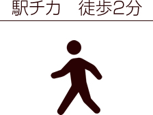 駅チカ 徒歩2分